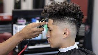 HAIRCUT TUTORIAL: DROP FADE | CURLY TOP