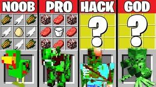 Minecraft Battle: ZOMBIE ANIMALS CRAFTING CHALLENGE ~ NOOB vs PRO vs HACKER vs GOD – Animation