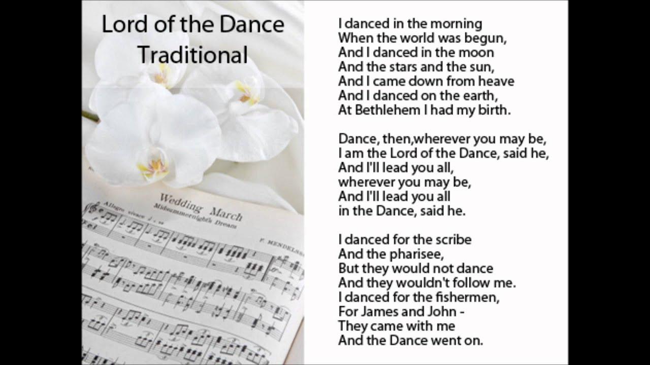 Lord of the Dance w Lyrics  Traditional Hymn  YouTube