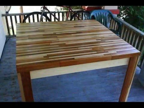 Cmo hacer una mesa con retazos de madera  YouTube