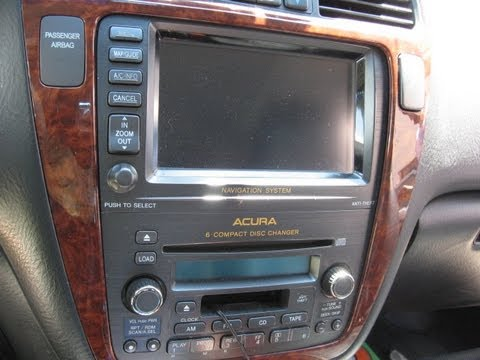 Acura Mdx 2001 Navigation Radio Wiring Diagram How To Remove Navigation Dvd Player From Acura Mdx 2004
