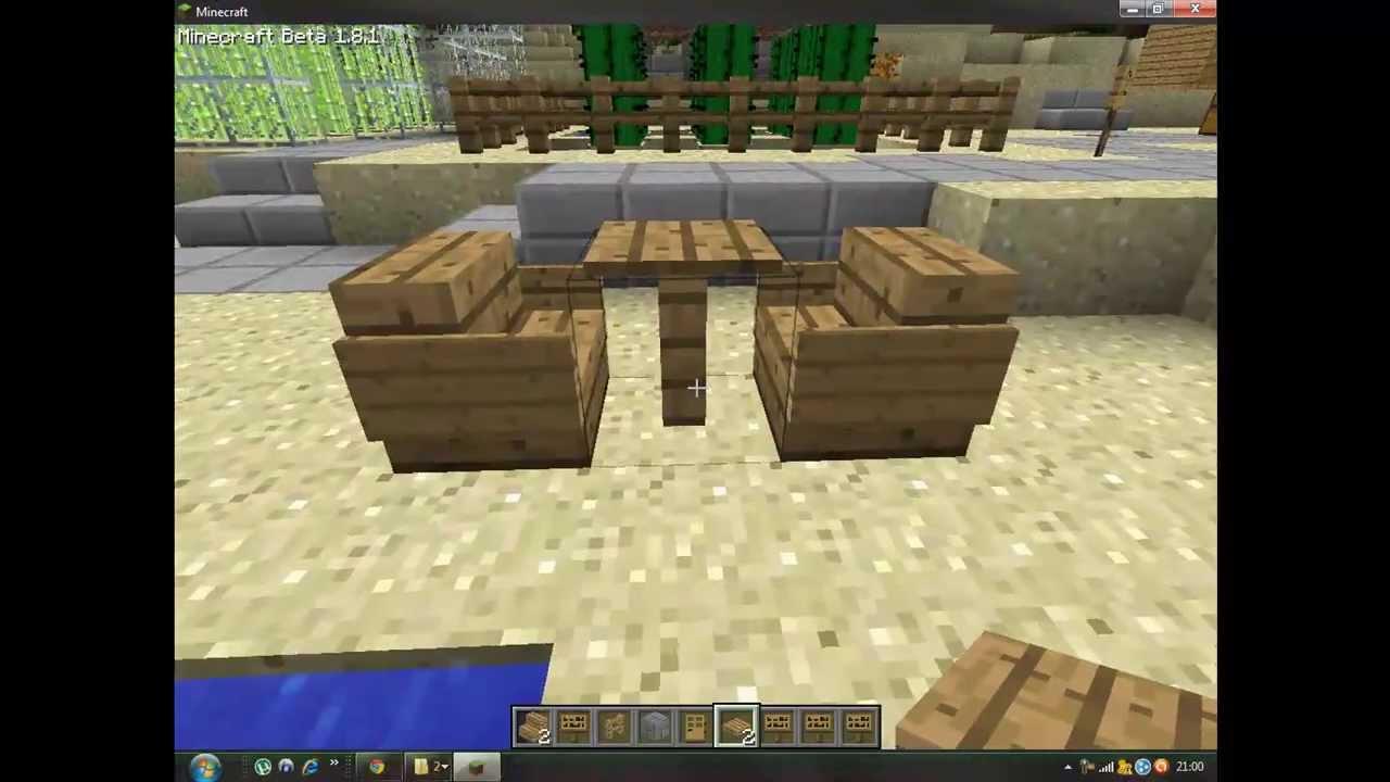 Minecraft Como hacer sillas y mesas  YouTube