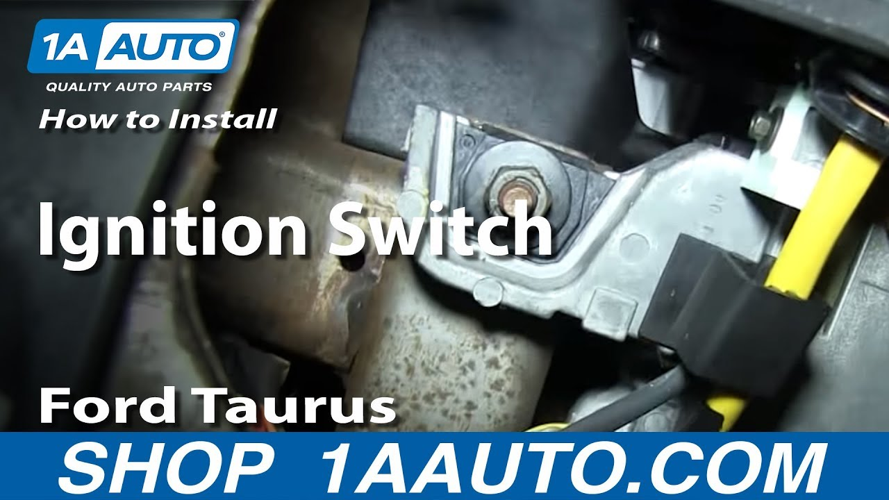 1986 Ford F 350 Wiring Diagram How To Install Replace Ignition Switch 1996 06 Ford Taurus