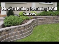 How to Build Retaining Wall with Curves - YouTube