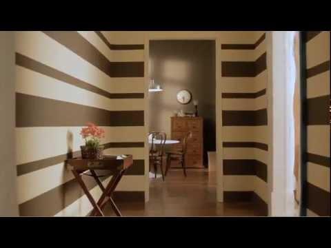 Cmo pintar una pared con rayas horizontales  YouTube