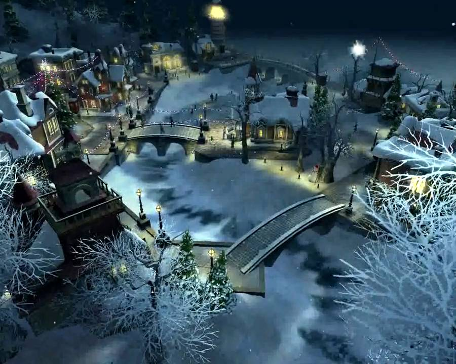 Snow Village 3D Screensaver  YouTube