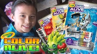 Crayola COLOR ALIVE - Bring Your Coloring to Life!!! Skylanders, Enchanted Forest, Barbie