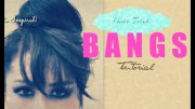 hair tutorial fake bangs