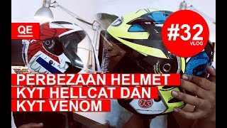 Perbezaan Helmet KYT Hellcat Dan KYT Venom