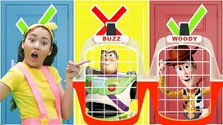 Ellie Saves Toy Story 4 From Toy Jail Don't Choose the Wrong Door! | Toy Game Show