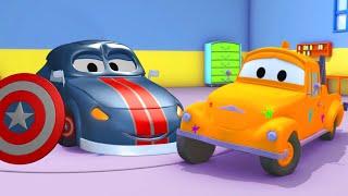 Car garage for kids - Matt First AVENGER - Tom's Paint Shop in Car City