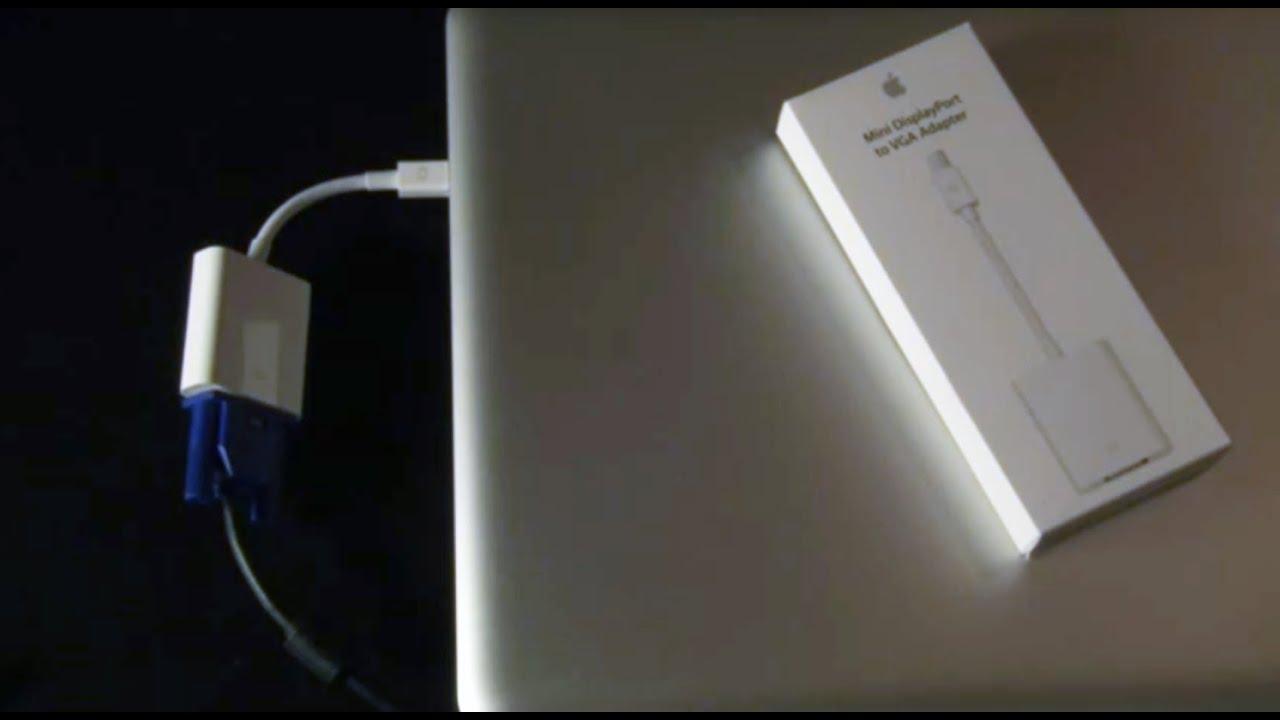Apple: Displayport to VGA Adaptor (Macbook to Overhead Projector) - YouTube