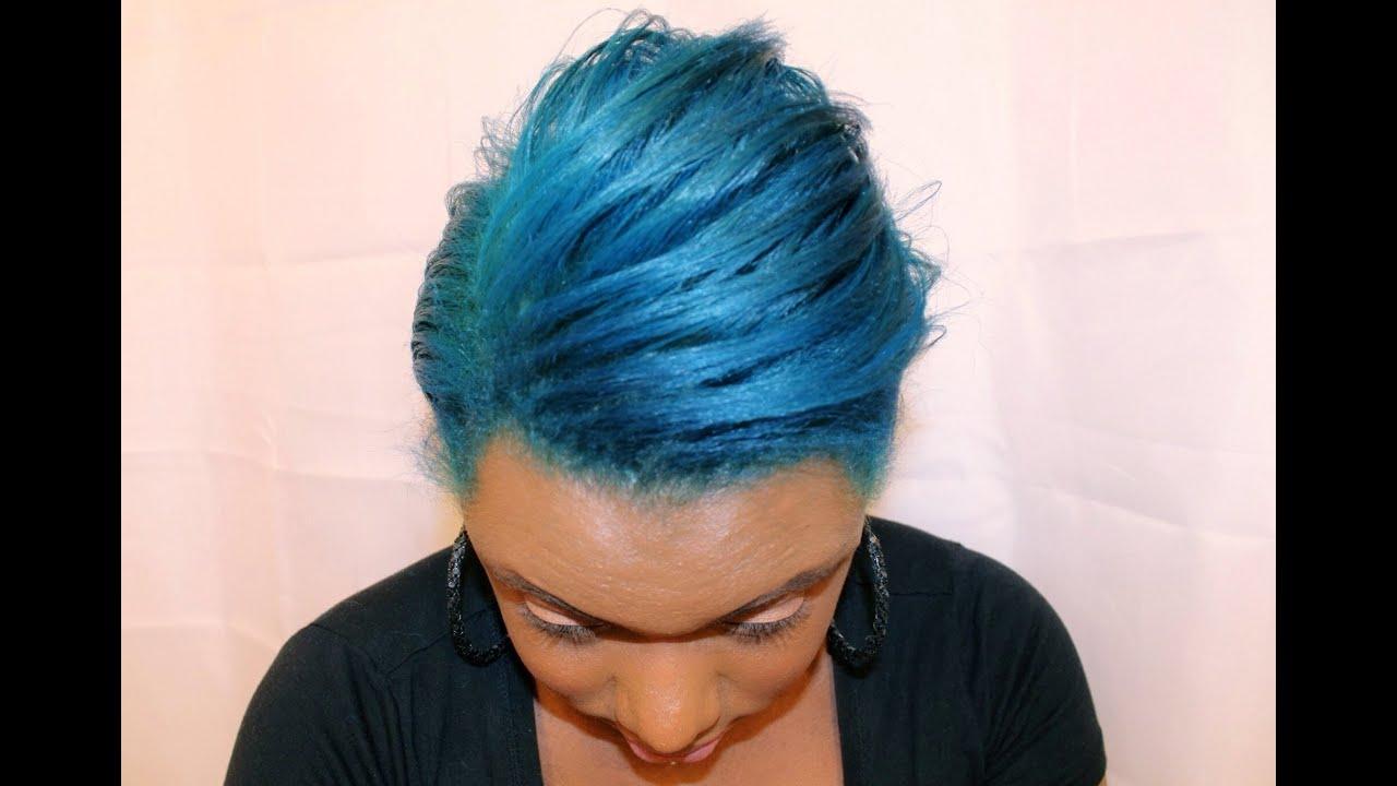 I BLEACH And DYE NATURAL HAIR AQUA BLUE Ion Color