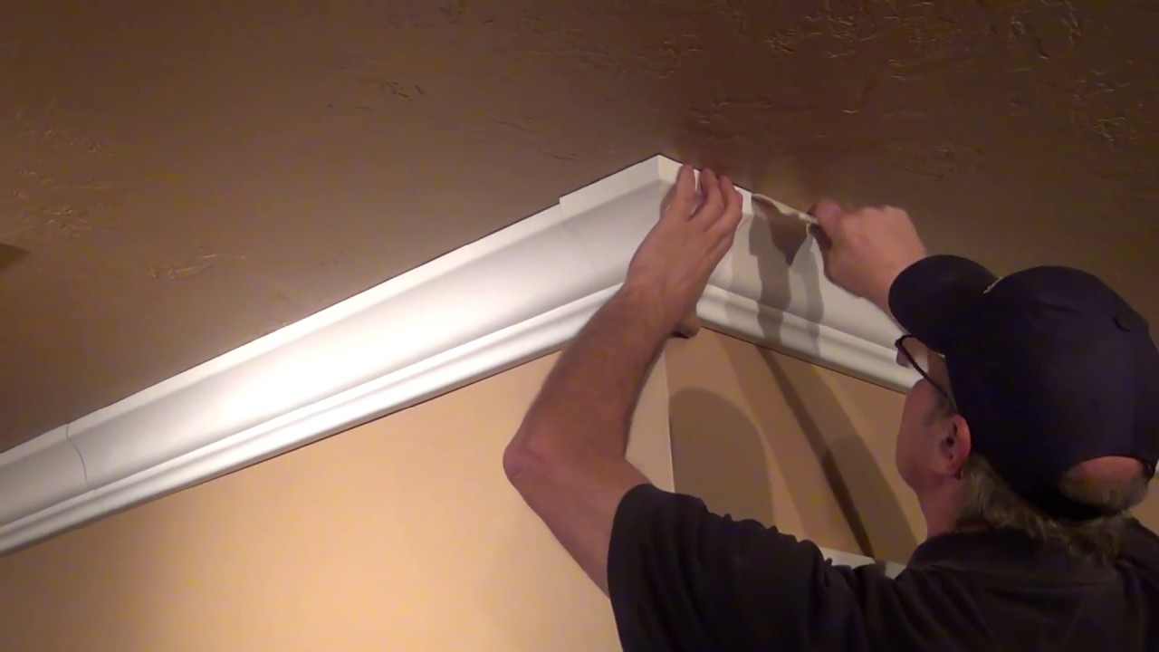 Crown Molding Wire and Cable Management  YouTube