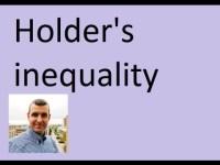 Holder's inequality
