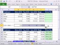 Excel Magic Trick 722: Calculate Gross Pay For Week From ...