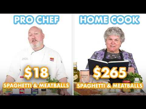 $265 vs $18 Spaghetti & Meatballs: Pro Chef & Home Cook Swap Ingredients | Epicurious