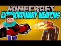 EXTRAORDINARY WEAPONS MOD - Las armas que tus padres no te dejaran usar! - Minecraft mod 1.10.2