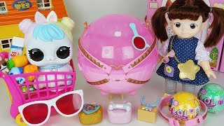 Baby doll and LOL Surprise egg biggie rabbit pets toys play - 토이몽