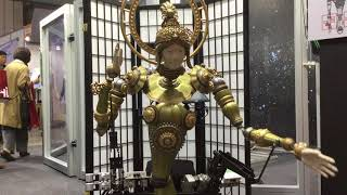 Demonstration of KUROKO Robot by Muscle at iRex 17 [RAW ]