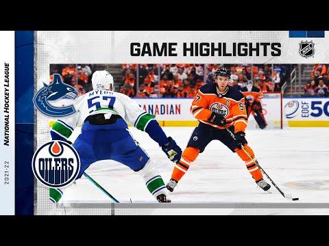 Canucks @ Oilers 10/13/21 | NHL Highlights