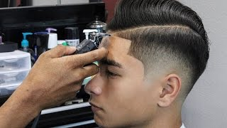 BARBER TUTORIAL: COMBOVER | HALF INCH OFF THE TOP | LOW FADE | SHEAR WORK