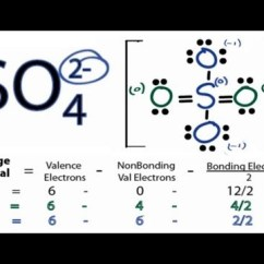 How To Draw Lewis Dot Diagrams Chinese Atv Wiring Harness Diagram So4 2- Structure - The For (sulfate Ion) Youtube