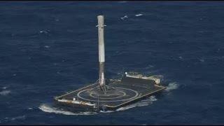 SpaceX lands rocket at sea, makes history