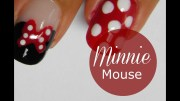 disney minnie mouse nail art tutorial