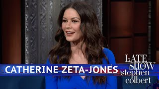Catherine Zeta Jones Plays Jazz With Her Face