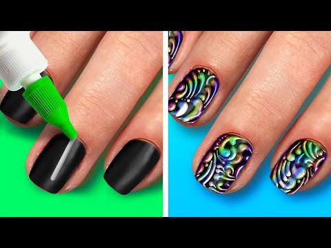 23 TRENDING NAIL ARTS IDEAS AND TRICKS || MANICURE HACKS AND DIY NAIL DESIGNS TO TRY AT HOME