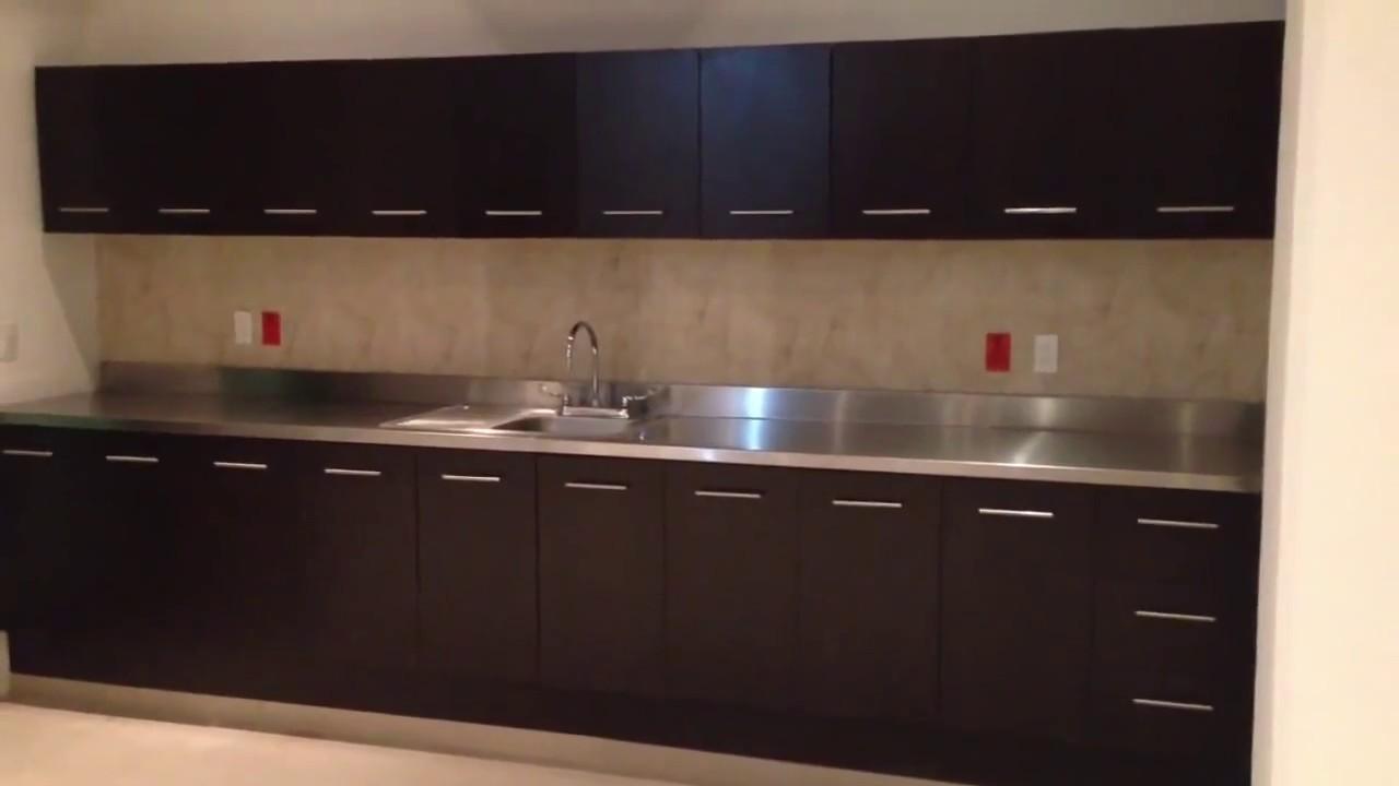 Cocinas integrales con acero inoxidable  YouTube