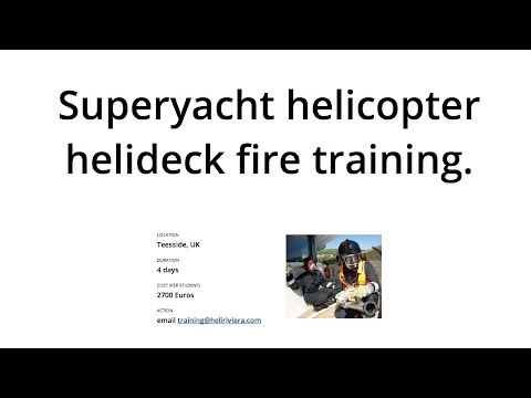 Helideck and Fire Training