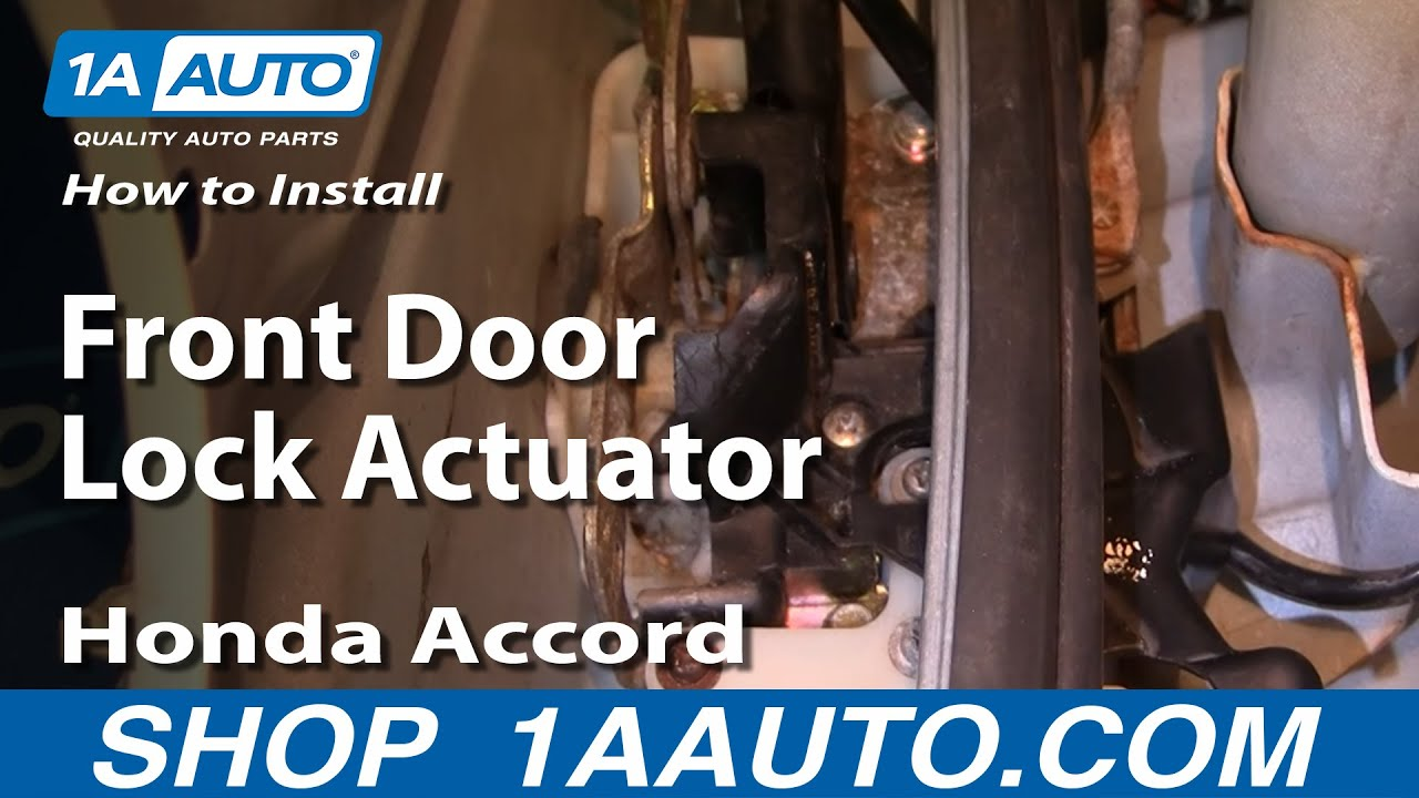 2003 Honda Pilot Fuse Diagram How To Install Replace Front Door Lock Actuator Honda
