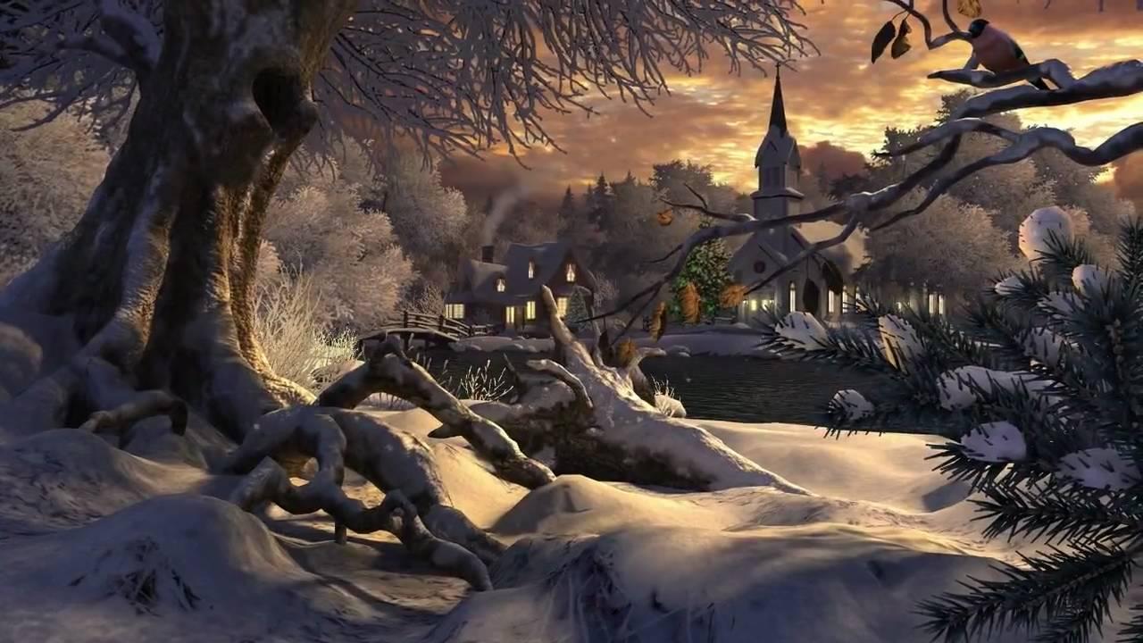Desktop 3d Wallpapers Holidays Christmas Winter Wonderland 3d Screensaver Youtube