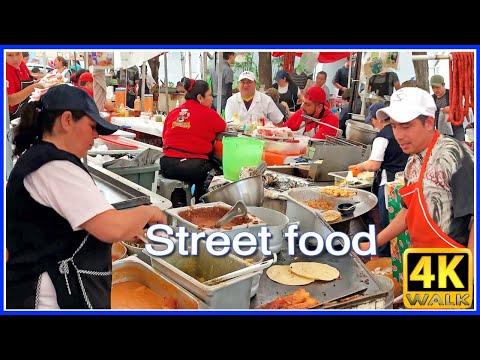 【4K】WALK MEXICO City 4K video CDMX Street Food Market travel