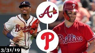 Atlanta Braves vs Philadelphia Phillies Highlights | March 31, 2019