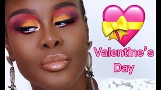VALENTINES DAY MAKEUP Tutorial using the Juvi'a Place Festival Plette| FUMI DESALU-VOLD