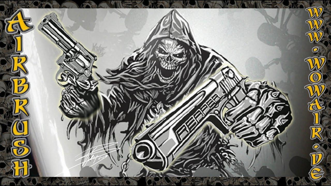 Reaper Airbrush Stencil
