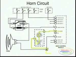 Horns & Wiring Diagram  YouTube