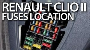 Where are fuses and relays in Renault Clio II  Thalia, Symbol, Dacia Logan  YouTube