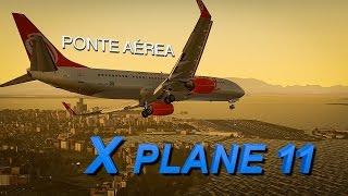 X-PLANE 11 | SÃO PAULO - RIO DE JANEIRO | Ponte Aérea | RNAV Y 02R |