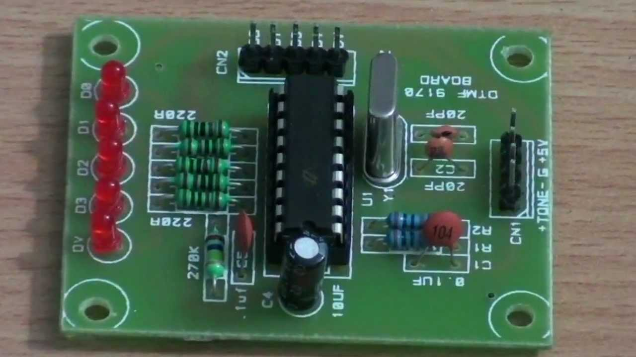 hight resolution of dtmf decoder circuit youtube