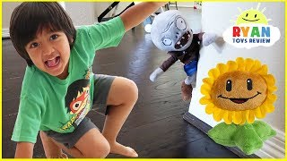 Plants vs Zombies Plush Pretend Play Garden Warfare!!!