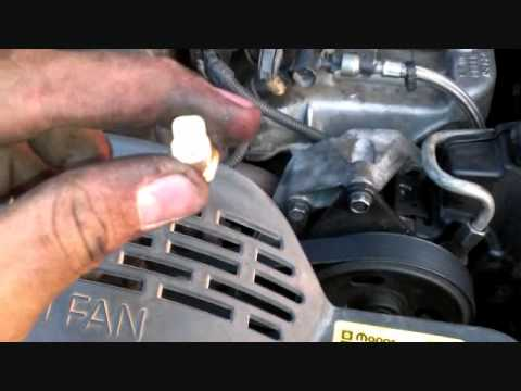Cj7 Brake Light Wiring Diagram Replace Temperature Sensor On Jeep Grand Cherokee Youtube