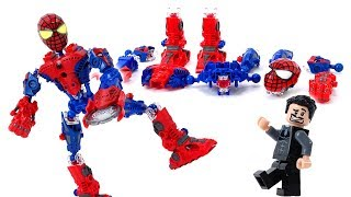 Spider-Man Robot Mega Bloks - Super Tech Heroes Building Block Tony Stark for Iron-man
