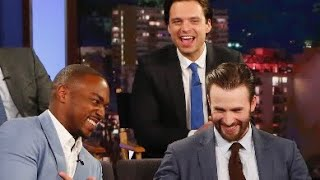 Chris Evans, Anthony Mackie, and Sebastian Stan being bestfriends ! EvanStackie