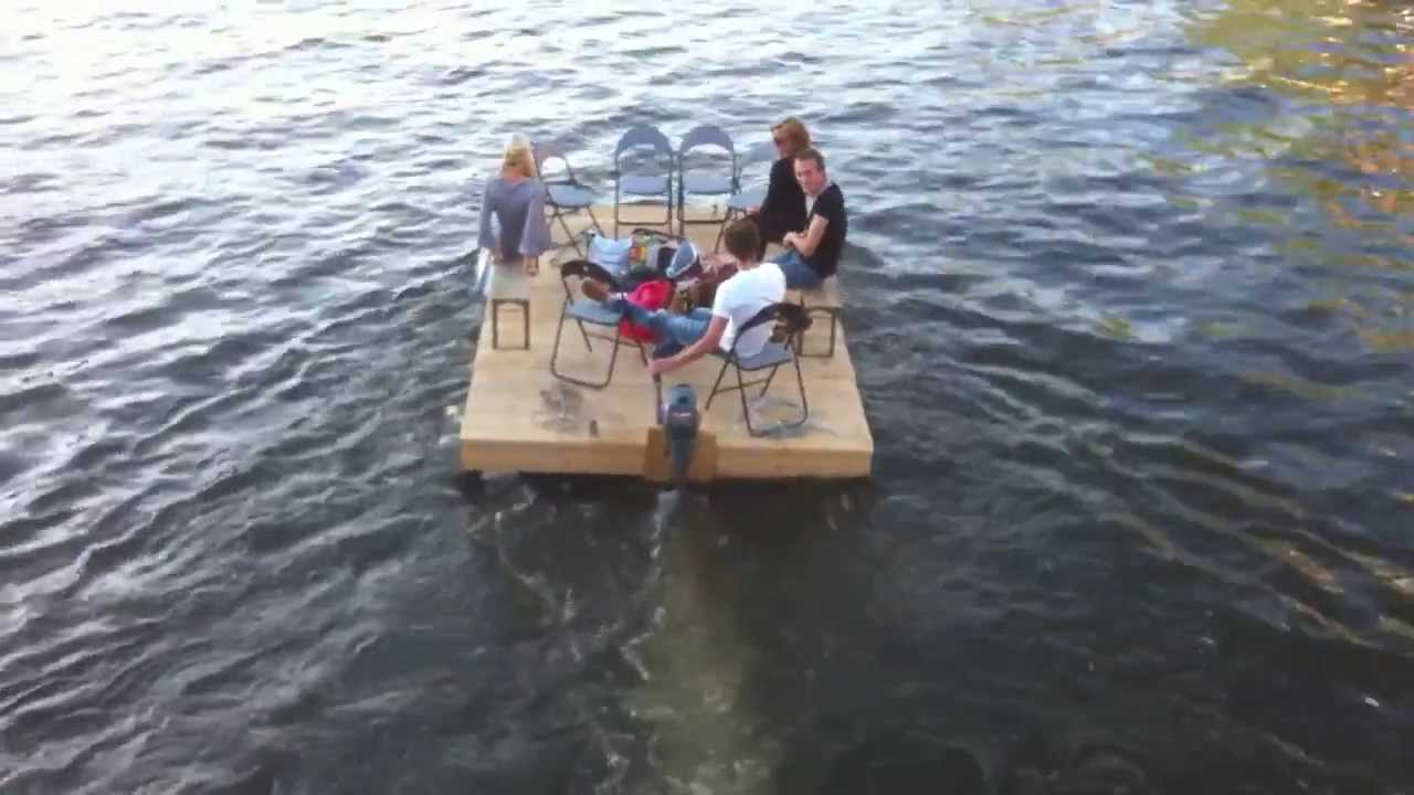 Pallet Boat On The Amstel  YouTube