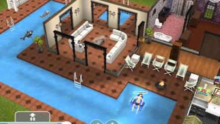sims freeplay mansion plan outside open storey piscina
