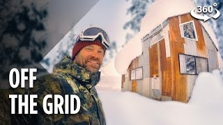 Living Off The Grid In A Snowboarder's Tiny Cabin (360 )